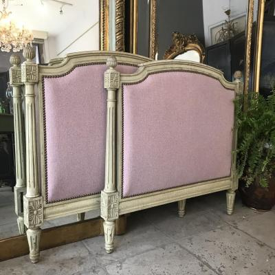 Bed / 2 Headboards Louis XVI Reupholstered Late Nineteenth C