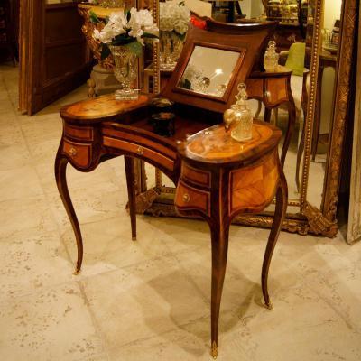 coiffeuse marquet e estampill e bois de rose satin. Black Bedroom Furniture Sets. Home Design Ideas