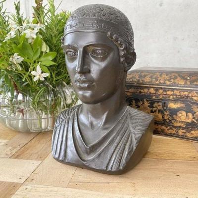Buste Platre D'un Grec