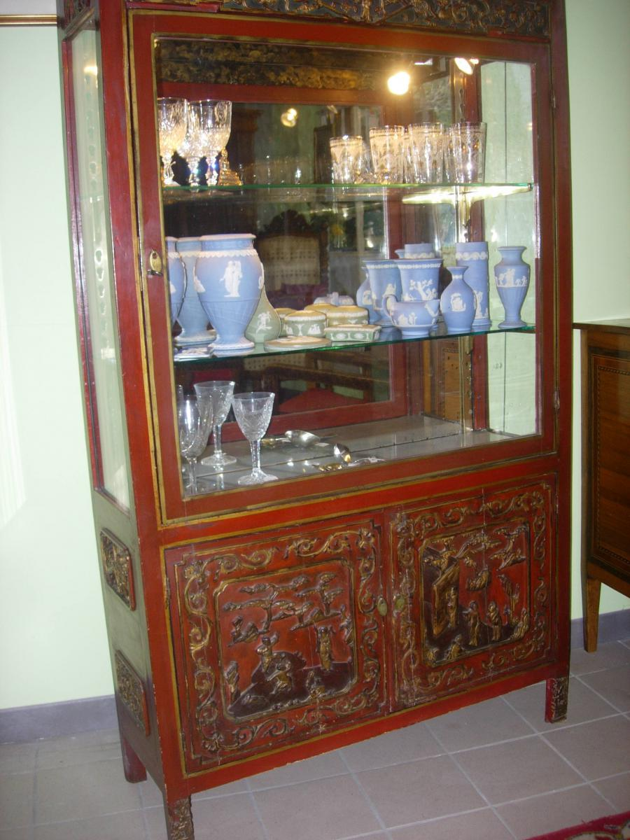 vitrine ancienne chinoise vitrines. Black Bedroom Furniture Sets. Home Design Ideas
