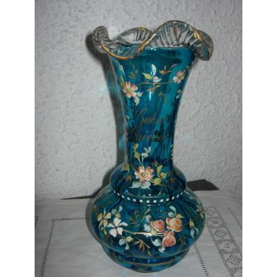 vase verre émaillé personnalisé
