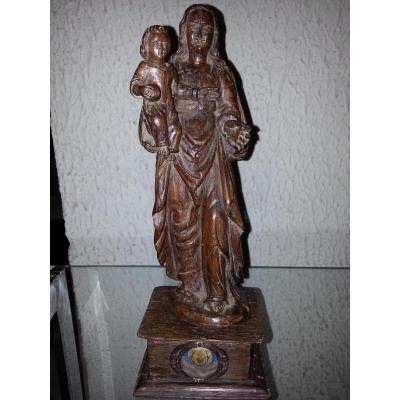Madonna And Child Wood 18th