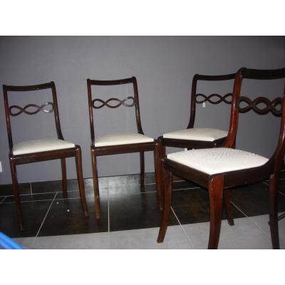 Mahogany Chairs Series Of Four