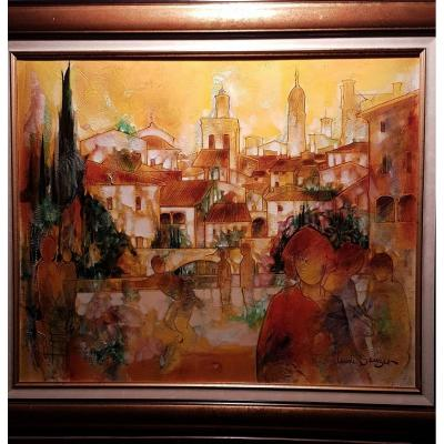Claude SAUZET French painter, born in 1941 in Gard.<br />