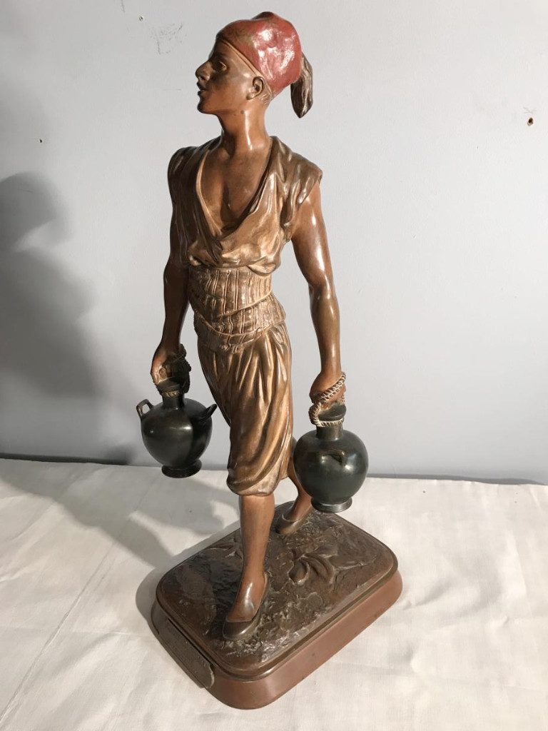 """Polychrome Bronze By Debut """"the Tunisian Water Carrier"""""""