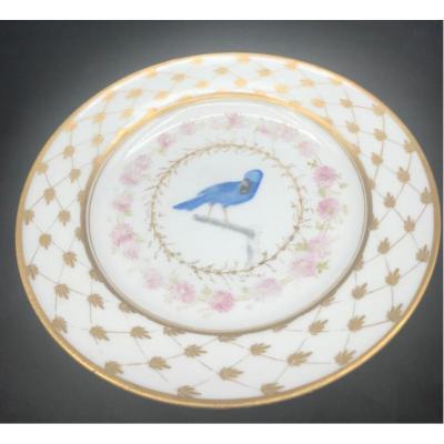 Assiette En Porcelaine Fin XVIII° Marque : Dagoty