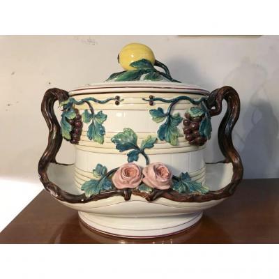 Grand Bol à Punch (ou Soupière)  - 1868 -Céramique Rörstrand En Suède