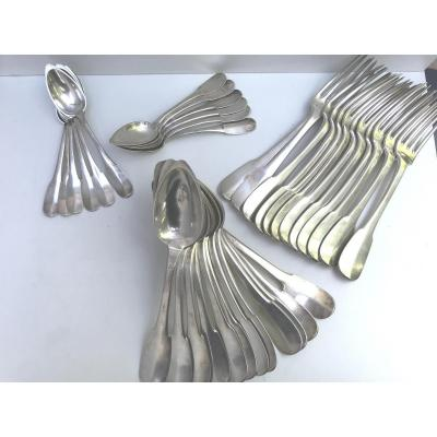Silverware 36 Pieces Sterling Silver Punch Old Man Model Uniplat
