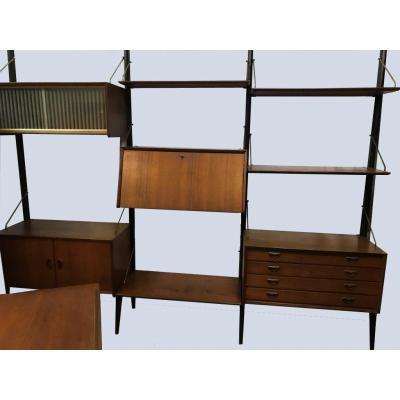 4  étagères Murales Modulaires  3 + 1  - Royal Système  - Poul  Cadovius 1959  - Vintage
