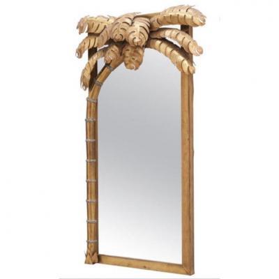 Miroir Palmiers De Jansen Cadre Laiton Doré