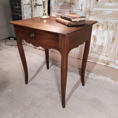 Petite Table Louis XV En Noyer