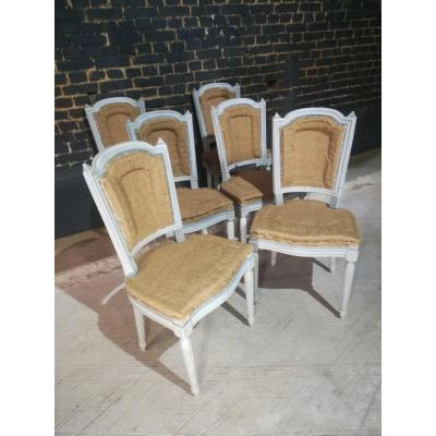Series Of 6 Louis XVI Style Chairs