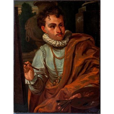 Antonio Bellucci Attribué, Portrait d'Apelles, Huile Sur Toile