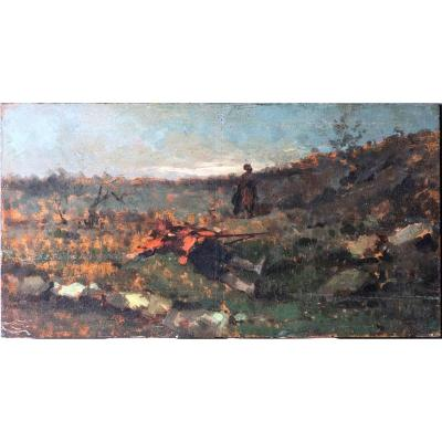 Gerolamo Induno (1825-1890), Fallen Soldier, Oil On Panel
