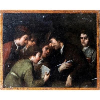 Pasquale De Rossi (1639-1722), Enseignant Et Disciples, Huile Sur Panneau