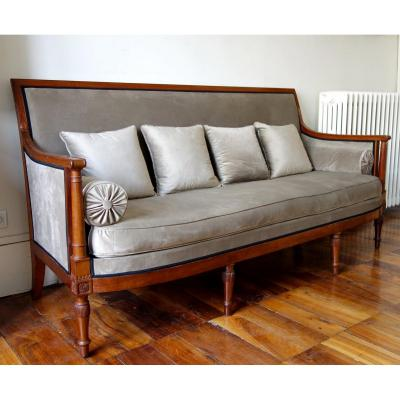 Georges Jacob - Directoire Period Mahogany Sofa - Stamped