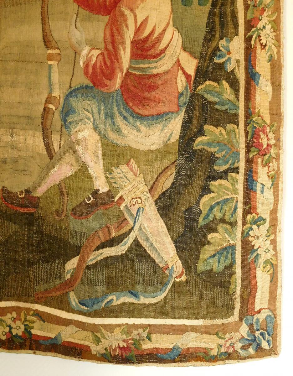 Tapisserie d'Aubusson Polychrome, Laine Et Soie, Jeux Dans Le Parc époque Louis XVI 160 X 200cm-photo-4