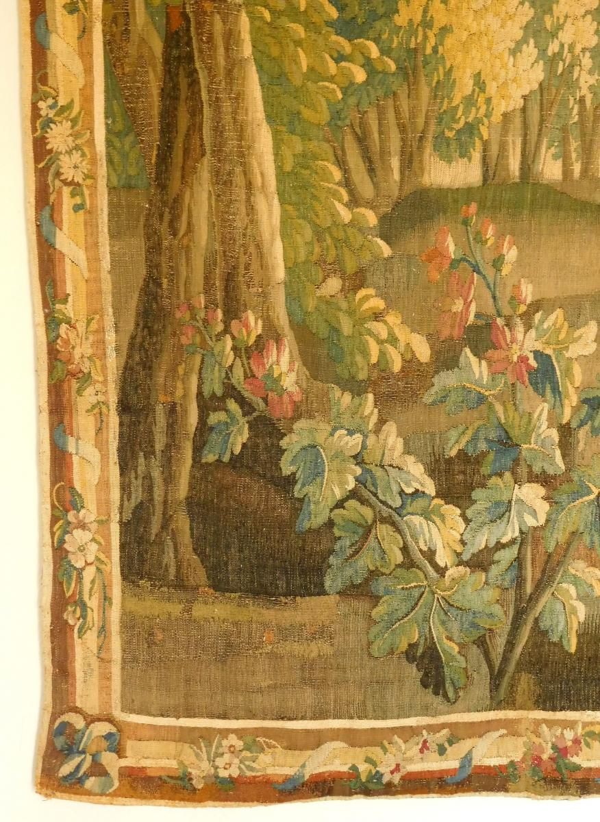 Tapisserie d'Aubusson Polychrome, Laine Et Soie, Jeux Dans Le Parc époque Louis XVI 160 X 200cm-photo-5