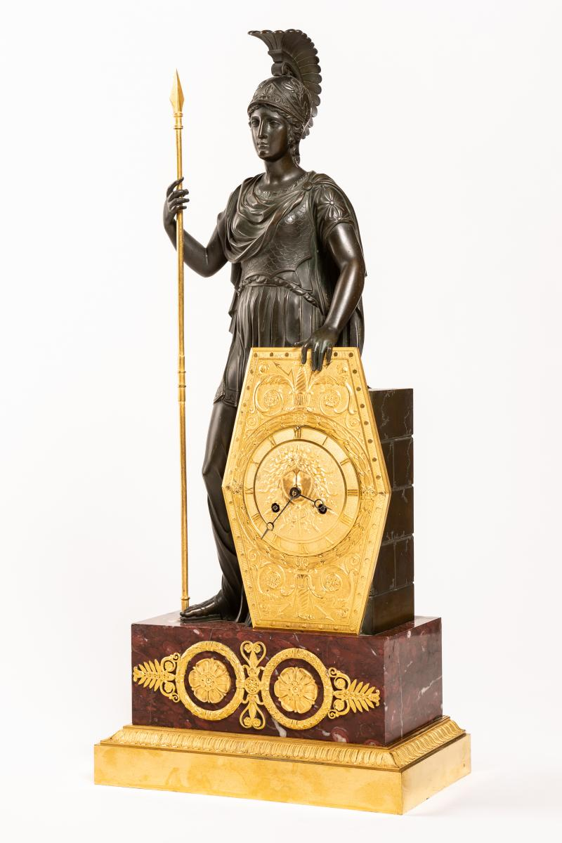 Gerard Jean Galle - Spectaculaire Pendule Pallas Athena - Fin De l'époque Empire (1820)