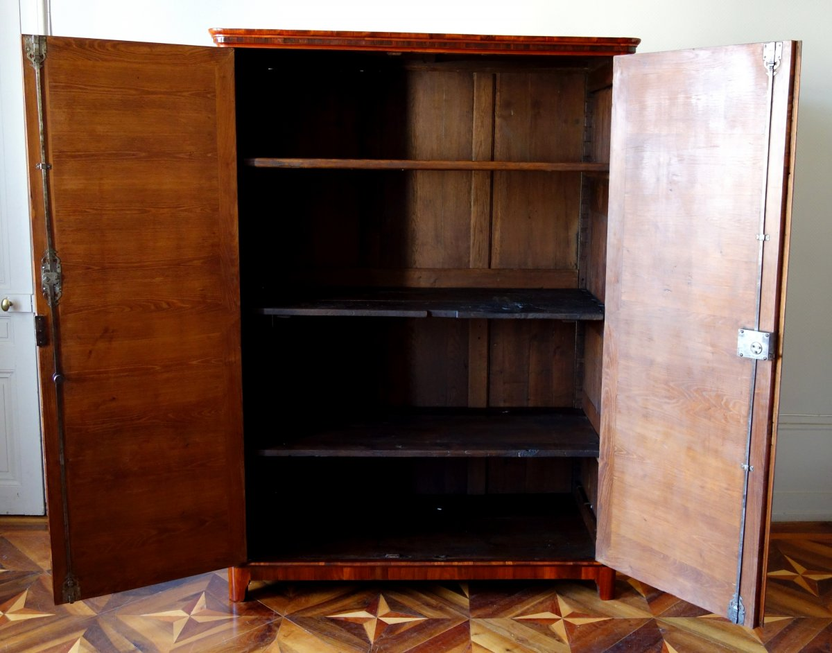 Claude Charles Saunier - Large Marquetry Wardrobe - Louis XV Transition Period - Stamped-photo-1