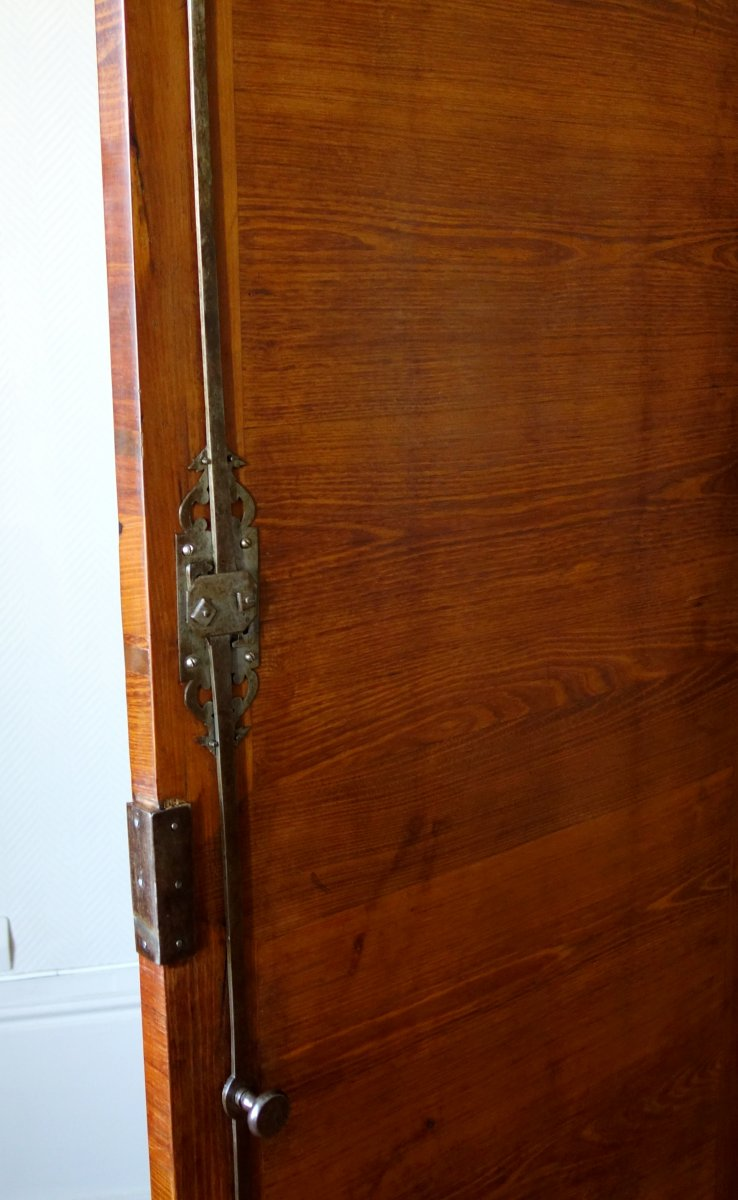 Claude Charles Saunier - Large Marquetry Wardrobe - Louis XV Transition Period - Stamped-photo-2