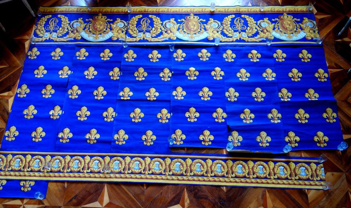 Papier Peint Royal Aux Armes De Charles Philippe De France Futur Charles X époque Restauration