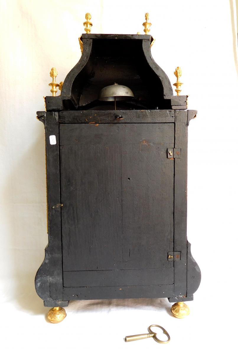 Pendule Cartel d'époque Louis XIV Par Fiacre Clement En Marqueterie Boulle