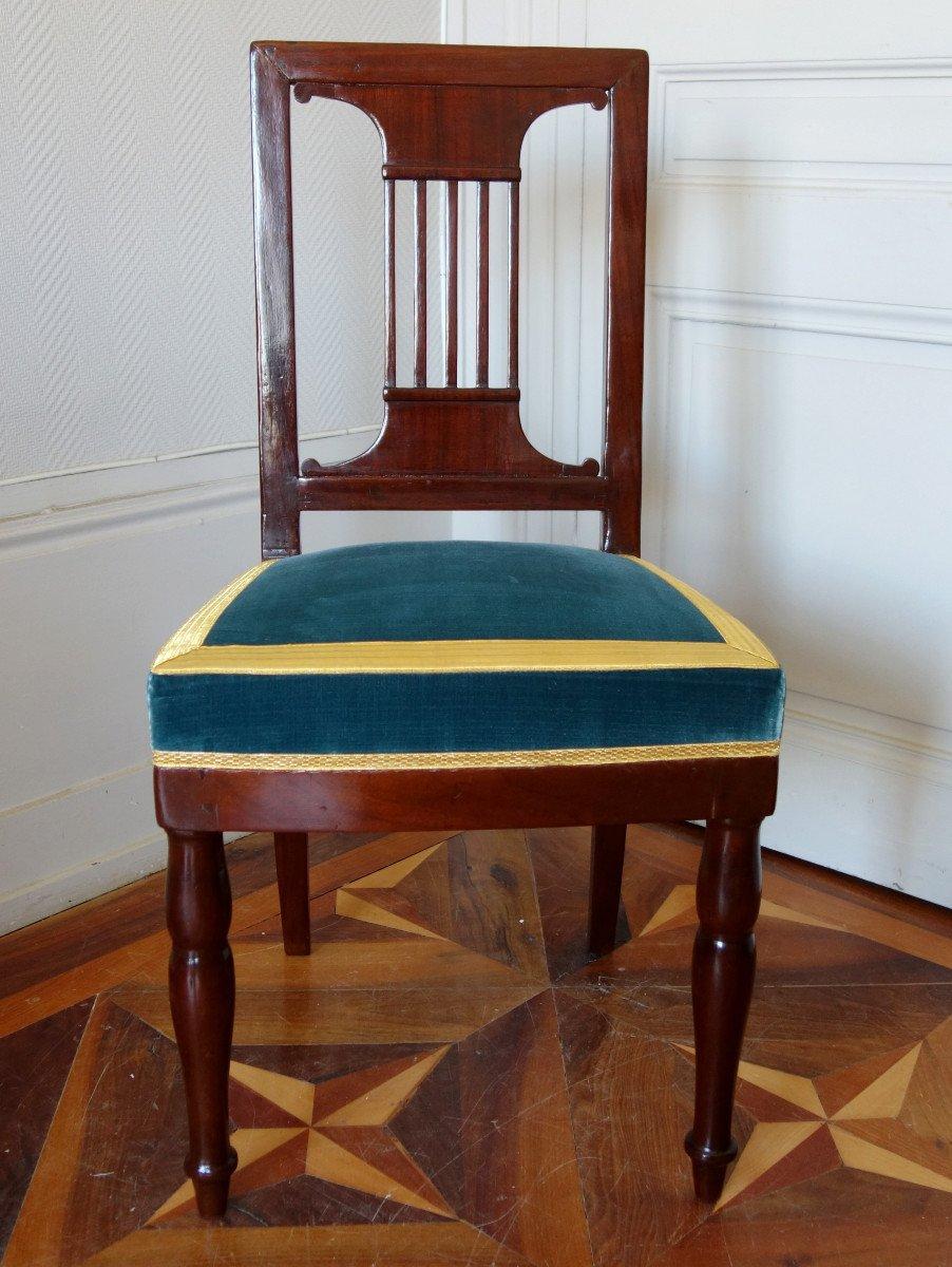 Paire De Chaises Par Jacob Pour Louis Philippe Au Chateau De Bizy - Estampilles Et Marques  Feu-photo-1