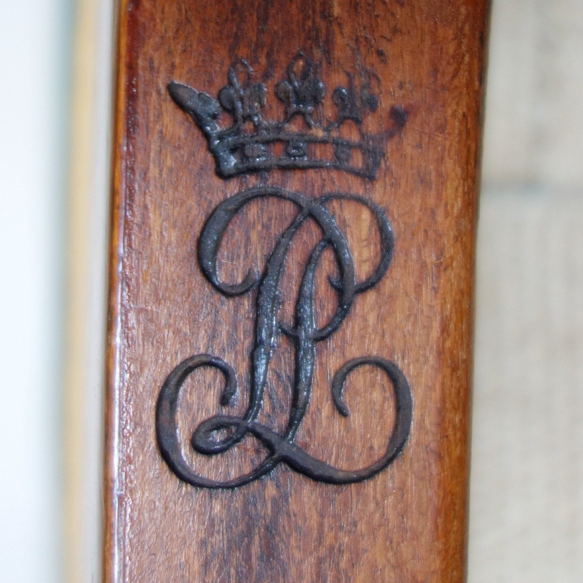 Paire De Chaises Par Jacob Pour Louis Philippe Au Chateau De Bizy - Estampilles Et Marques  Feu-photo-6