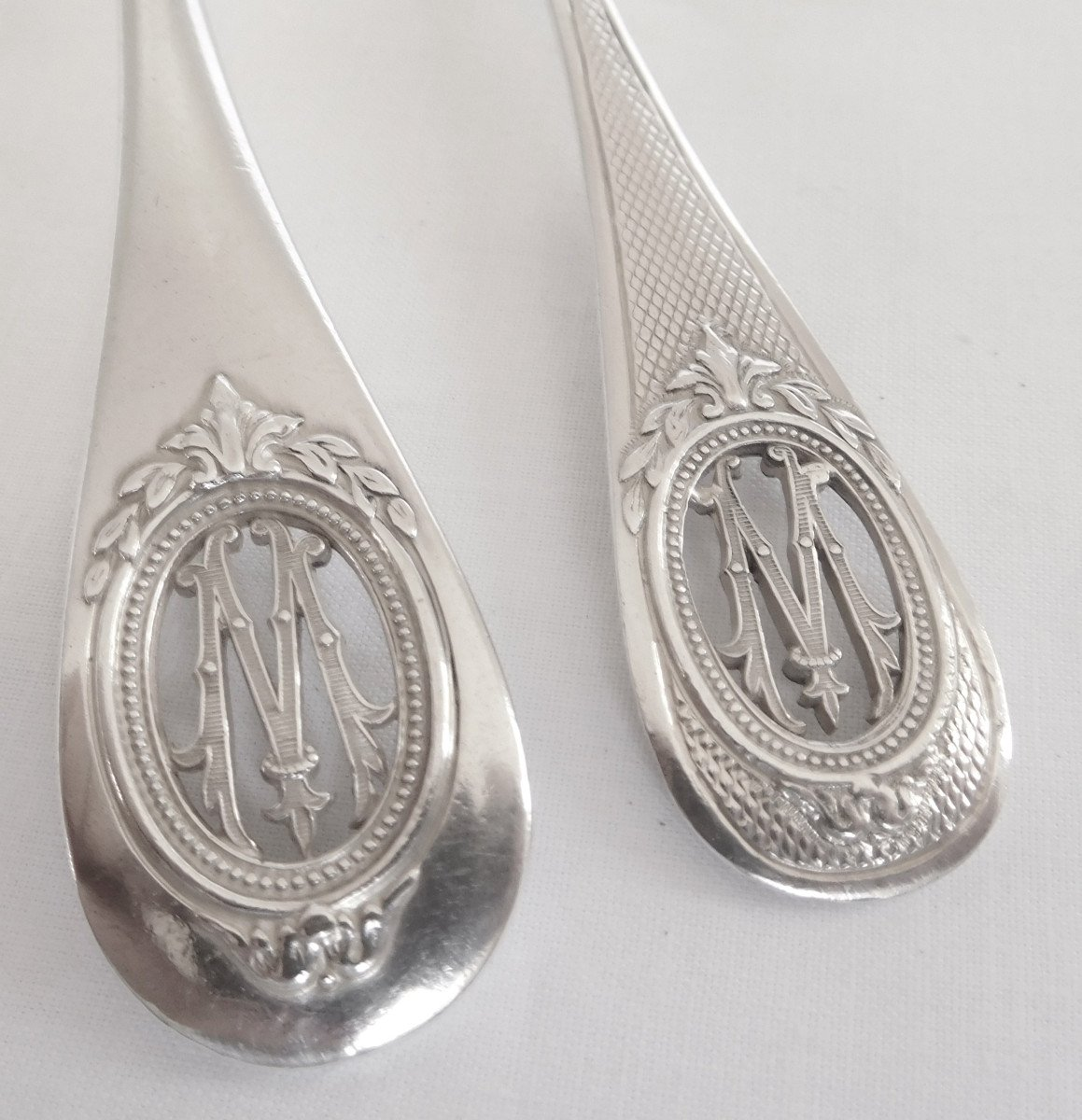 Louis XVI Style Sterling Silver Flatware For 18 : 95 Pieces - Silversmith Henin & Cie-photo-4