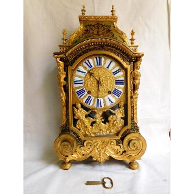 Louis XIV Marquetry Cartel Clock, Fiacre Clément - Paris, Early 18th Century Circa 1710