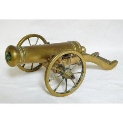 Bronze Miniature Cannon - Functional Child Toy - Middle 19th Century