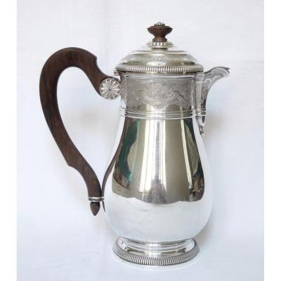 Puiforcat Sterling Silver Coffee Pot, Regency Style