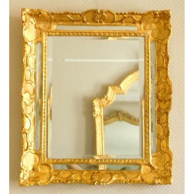 Louis XIV / Regency Gilt Wood Mirror, Early 18th Century 48x56cm
