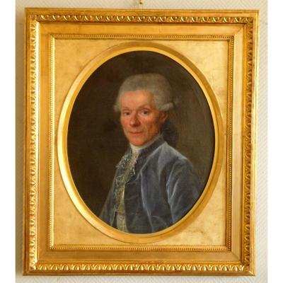 French School Of The 18th Century Portrait Of Gentleman Louis XVI - Oil On Canvas