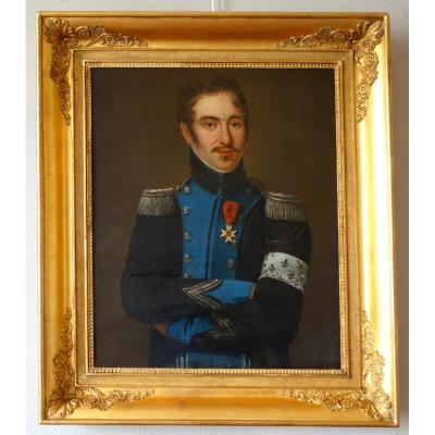 Portrait Of An Officer Of The Condé Army (royalist) During The Empire - Historical Souvenir
