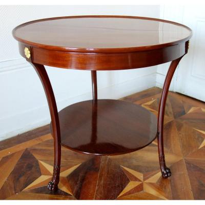 Bernard Molitor (attributed To) Mahogany Cabaret Table, Consulate Period