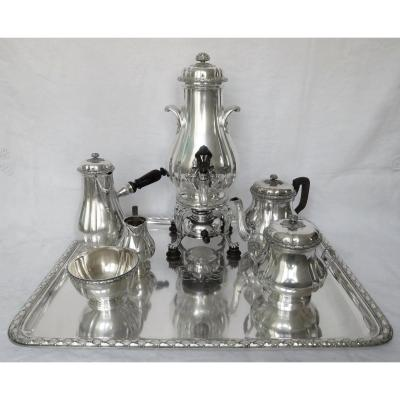 Boin Taburet  : Antique French Sterling Silver Coffee And Tea Set - 8 Pieces