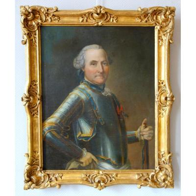 Louis XV Period Portrait Of A French Aristocrat, General Officer And Knight Of St Louis