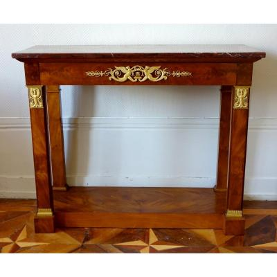 Mahogany And Ormolu Empire Console, Early 19th Century