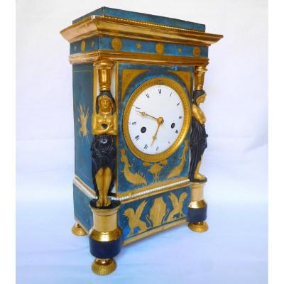 Dagoty (attributed To) Porcelain Clock, Consulate Period - Circa 1800-1805