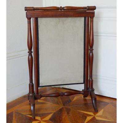 Mahogany Empire  Fire Screen  - Attributed To Bellangé