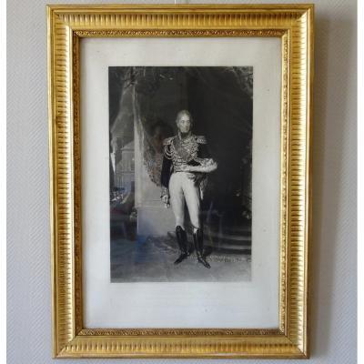 Grde Gravure Royaliste : Charles X  Roi De France En 1825 d'Après Lawrence, 76,5 X 104 Cm