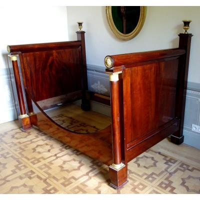 Empire Mahogany Bed / Sofa, Early 19th Century