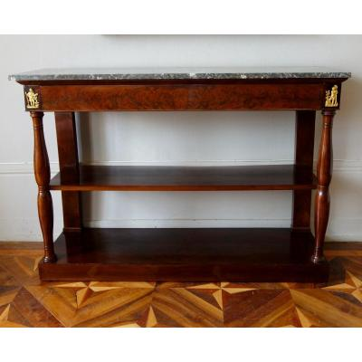 Large Empire Mahogany Console Attributed To Marcion