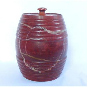 Large Tobacco Pot, Red Marble, Late 18th Century
