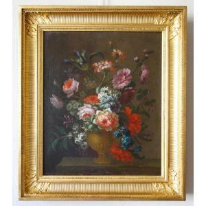 Ecole Française Du XIXe Siècle :  Tableau De Fleurs Vers 1800 - 81,5cm X 70,5cm