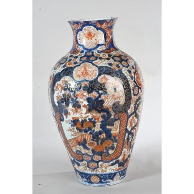 Grande potiche en porcelaine Imari