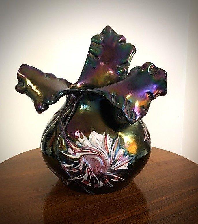 Vase Irisé . Karl Köpping.
