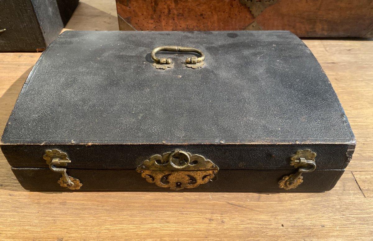 XVII Cent Travel Writing Box